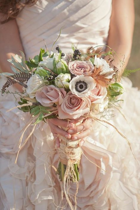 Portfolio Bouquet Mariage Rose podré Blanc